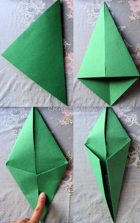 Origami tulip flower with stem flowers healthy craftionary origami tulip mightylinksfo