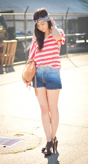 ombre shorts trendy