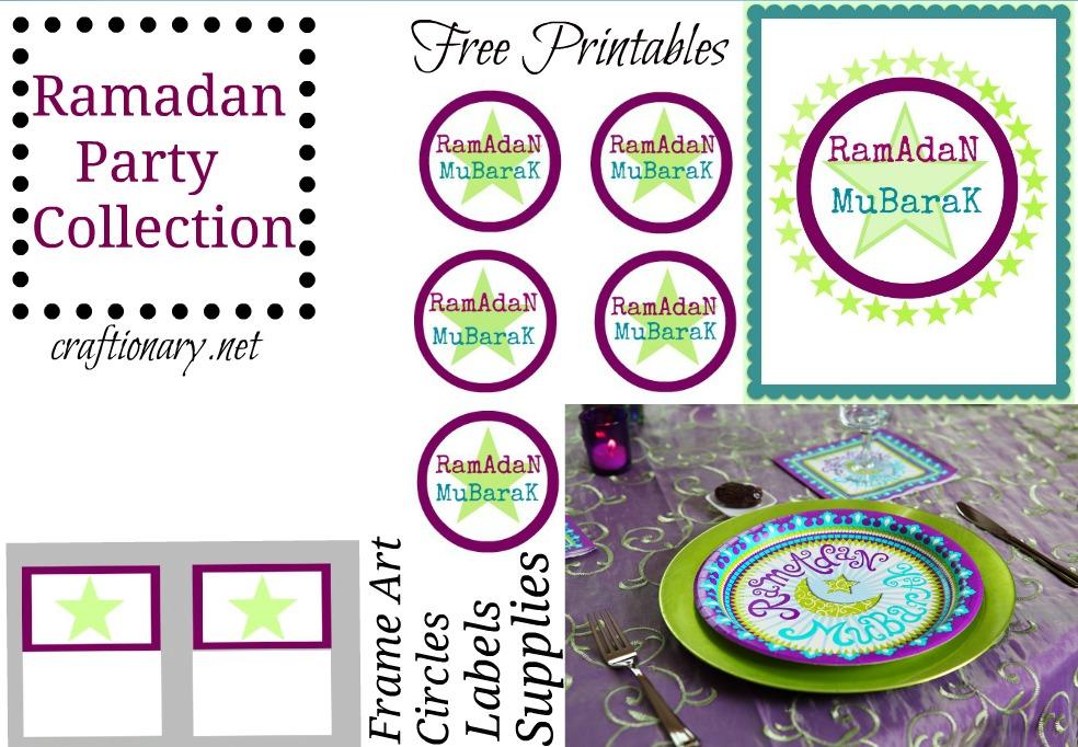 Ramadan Calendar Printables : Craftionary