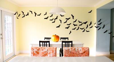 halloween bats wall decor free template