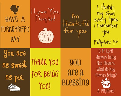 thankful lunch sack messages freebies