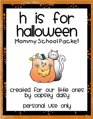 halloween packet alphabets kids freebie