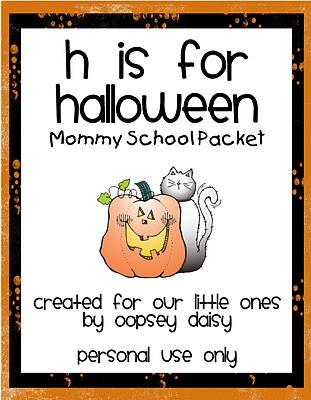halloween packet alphabets kids freebie