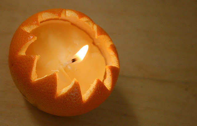 how to make decorative orange candles tutorial
