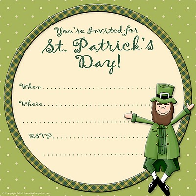 st patricks day party print