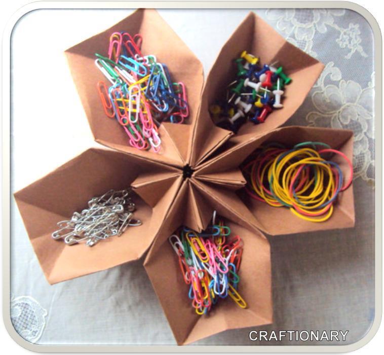 Craftionary - Origami desk organizer ...