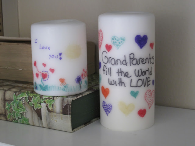 ink transfer candles